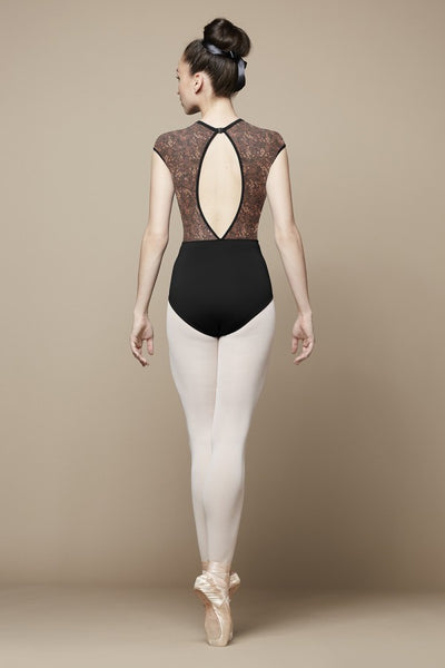 L9862B Bloch Aurelia Open Back Cap Sleeve Leotard Bodysuit