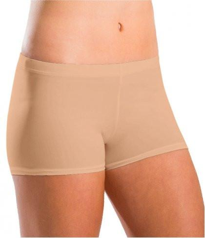 Motionwear Girls Nude Low Rise Shorts 7101 Silkskyn