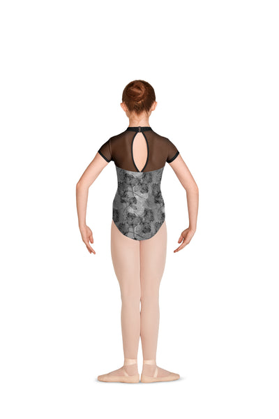 M1534C High Neck Cap Sleeve Leotard
