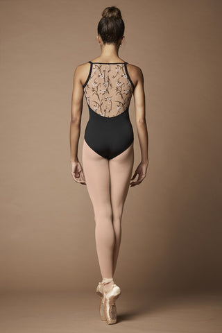 M2158LM Mirella Wild Bloom Twist Camisole Leotard