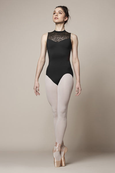 M3070LM Boch Olivina High Neck Leotard Bodysuit