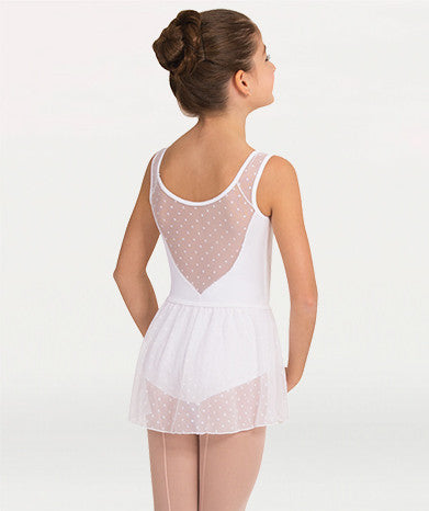 Body Wrappers Children's Dotted Yoke Leotard P1040