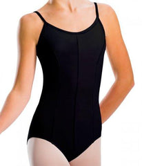 2524 Motionwear Ladies Princess Seam Leotard BLACK