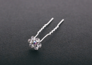 FH2 Rhinestone Earrings Clip On Style AZ0002