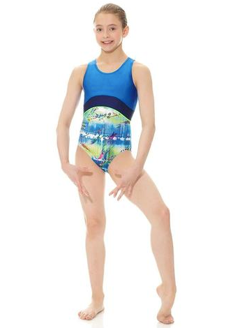 17838 Mondor Tank Gymnastics Leotard Bodysuit GIRLS