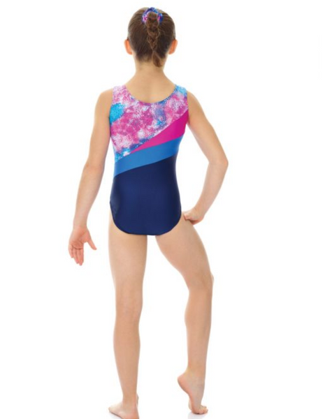 7862 Mondor Printed Metallic Leotard