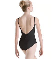 2521 Motionwear Pinch Front Low Back Camisole Leotard Bodysuit