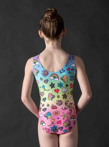 1912 Motionwear Girls Rainbow Wish Dye Sub Leotard