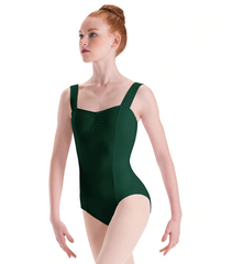 2643 Motionwear Girls Wide Strap Pinch Front Princess Seam Leotard
