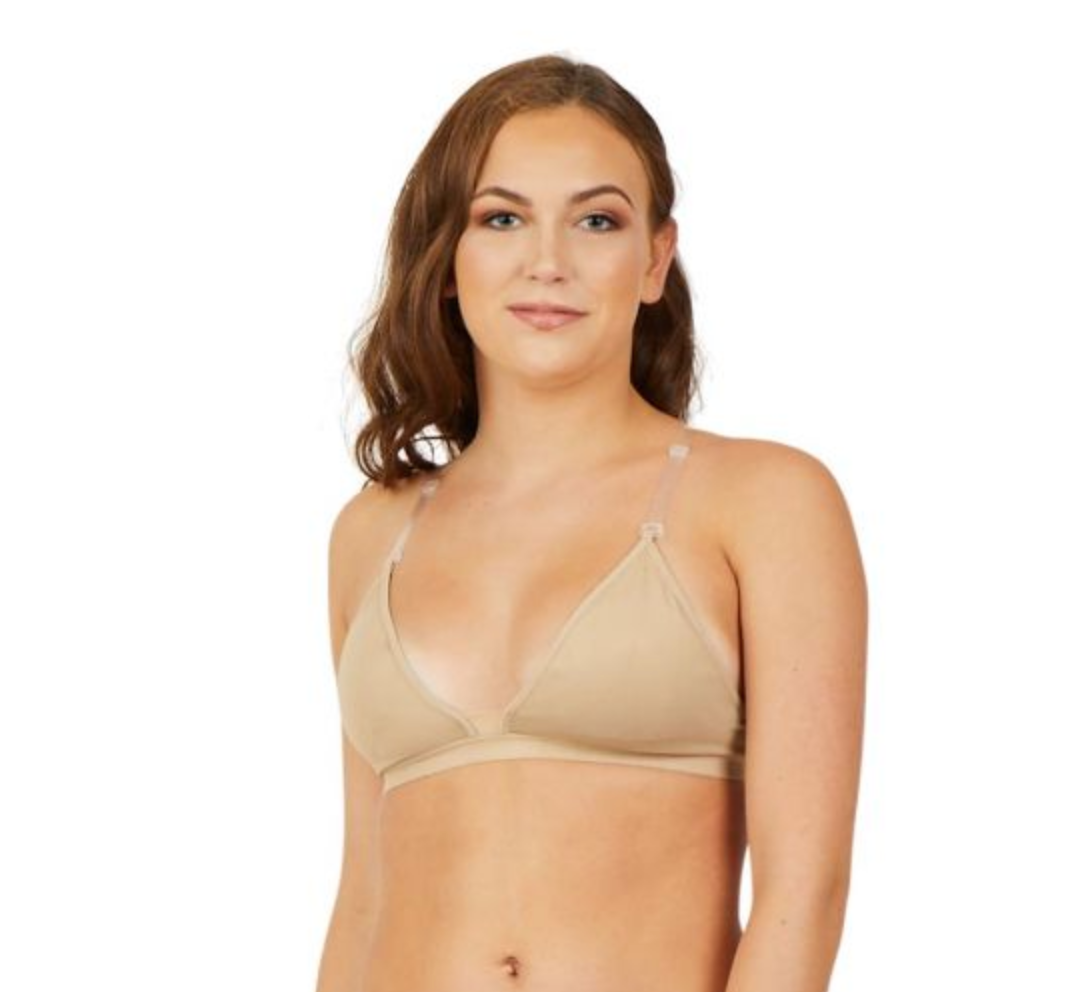 3777 Capezio Deep Neck Clear Back Bra LADIES