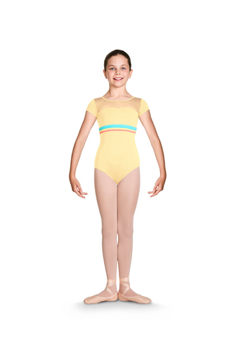 CL7852 Bloch Gelato Stripe Cap Sleeve Leo Bodysuit GIRLS