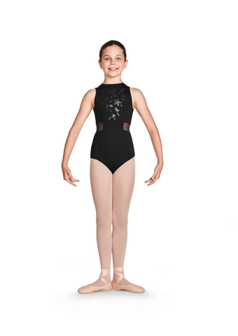 CL4930 Bloch Shimmer Print High Neck Leo Bodysuit GIRLS