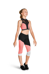 FP5208C Bloch Color Block Capri Leggings GIRLS