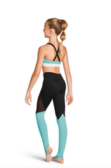 FT5212C Bloch Color Block X-Back Crop Top GIRLS