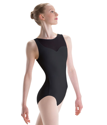 2443 Motionwear Girls Asymmetric Tank Leotard Bodysuit
