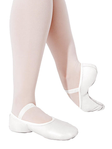 2037W CAP Adult Hanami Spilt Sole Canvas Ballet Shoe (WHT)