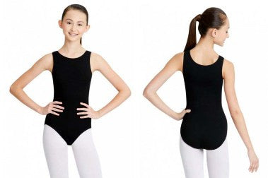 CC201 Capezio Ladies Tank Leotard with Ballet Leg Line
