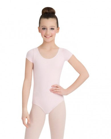 Capezio Girls Short Sleeved Cotton Leotard CC400C