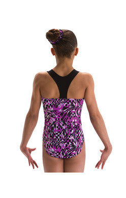 Motionwear Children's Gymnastic Suit with T-Back Tank 1626