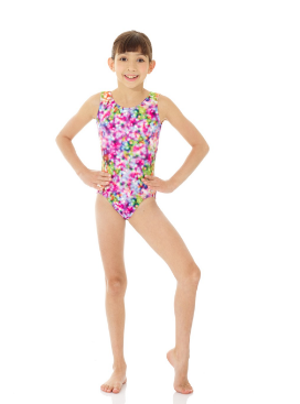 07876 Printed Metallic Leotard Mondor Gymnastics
