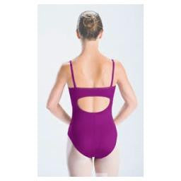 2506 Motionwear Girls Pinch Front Princess Back Cami Leotard