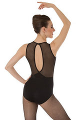 Body Wrappers Ladies Power Mesh Slit Back Leotard P1006