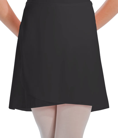 1022 Motionwear LADIES Wrap Tie Crepe Skirt
