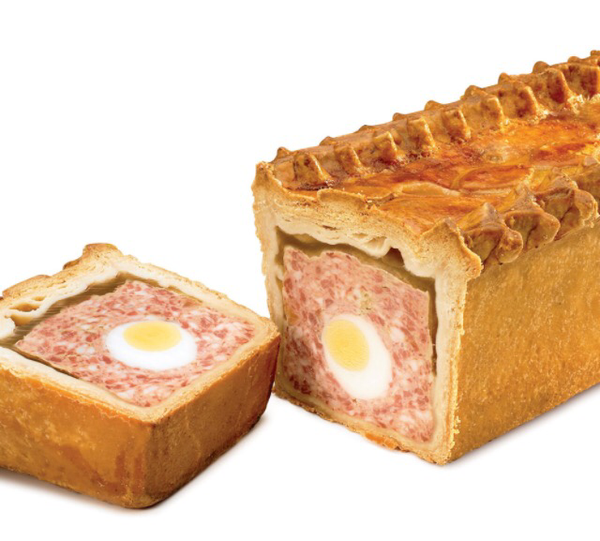 Gala pie with egg whole
