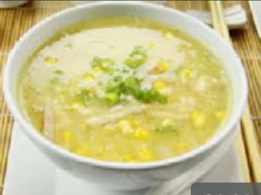 Ready made chicken & sweetcorn soup