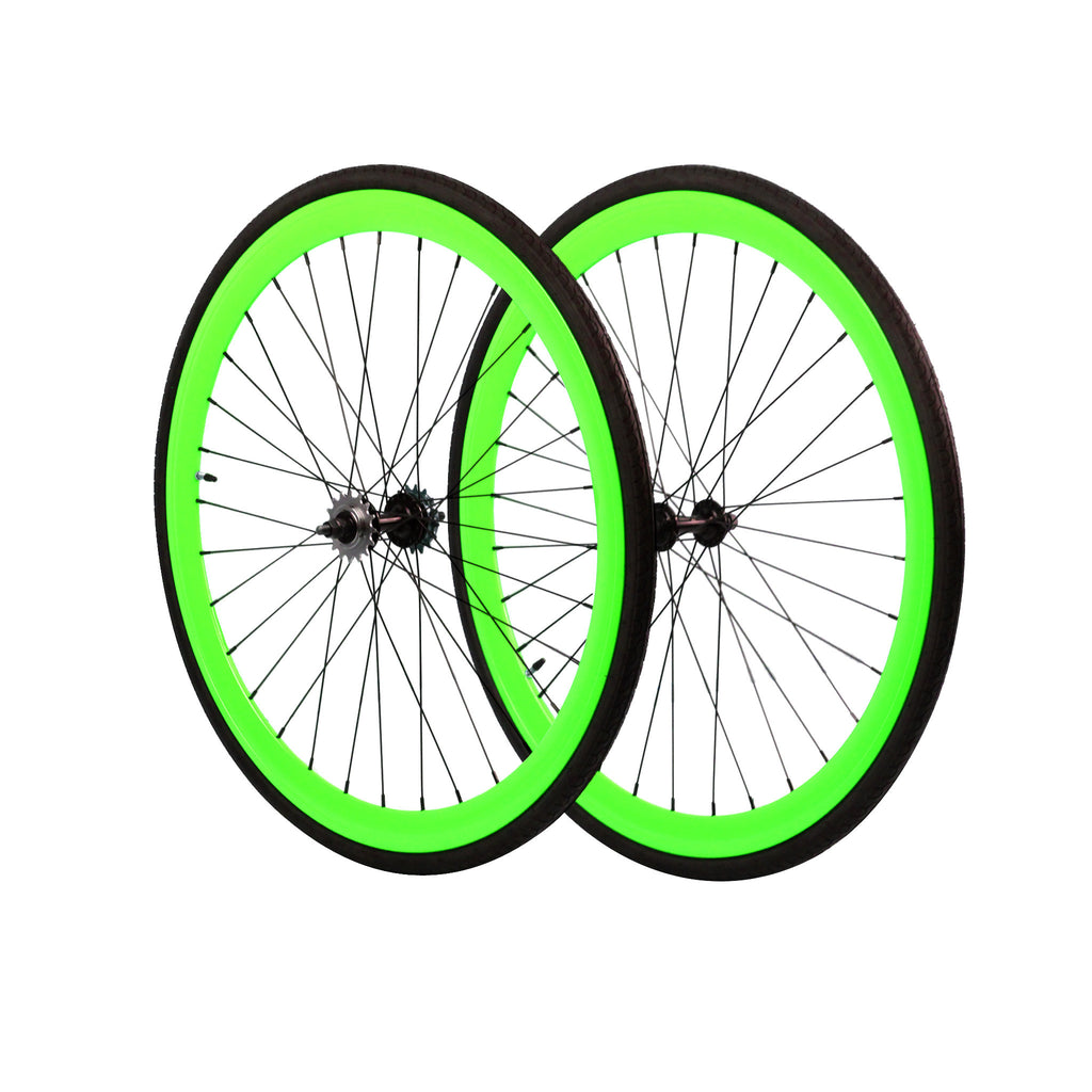 45mm Wheelset - Neon Green