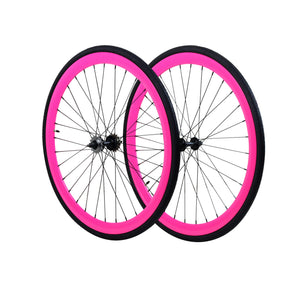 45mm Wheelset - Neon Pink