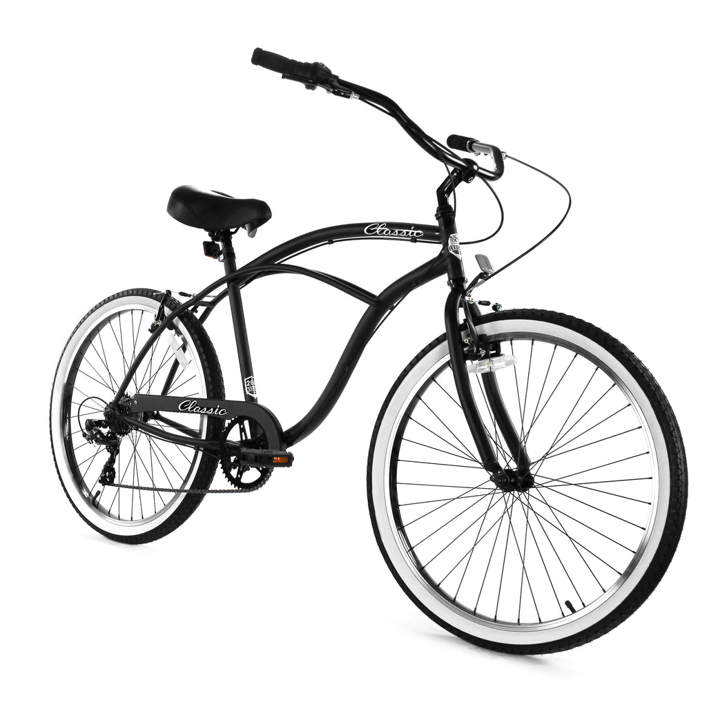ZF Bikes - Classic Men - 7spd - Black White