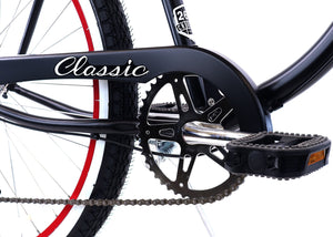 ZF Bikes - Classic Men - 7spd - Black Red
