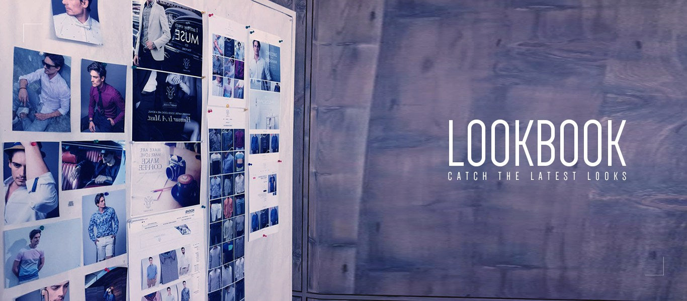 lookbook banner with text