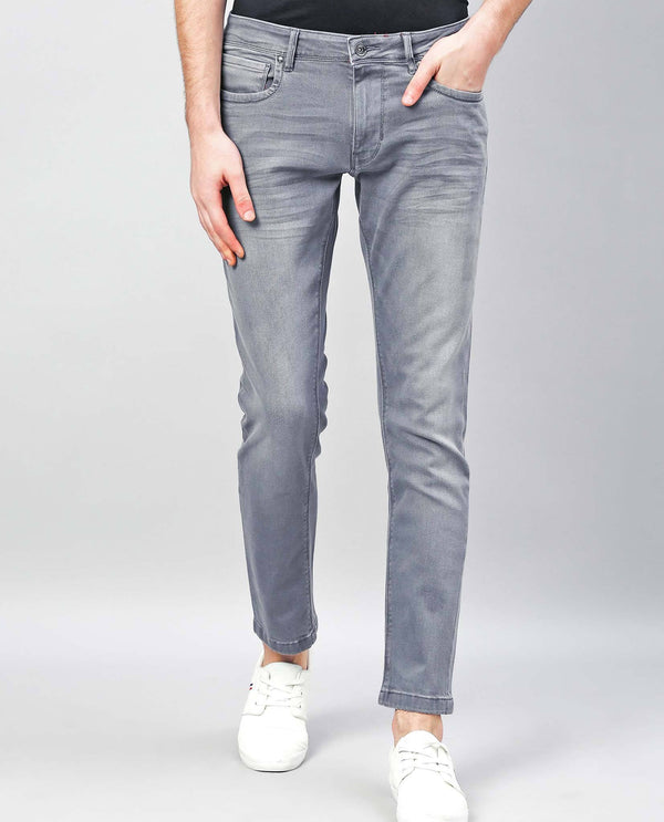 ALAN-MEN'S DENIM PANT-LIGHT GREY DENIM PANT RARE RABBIT