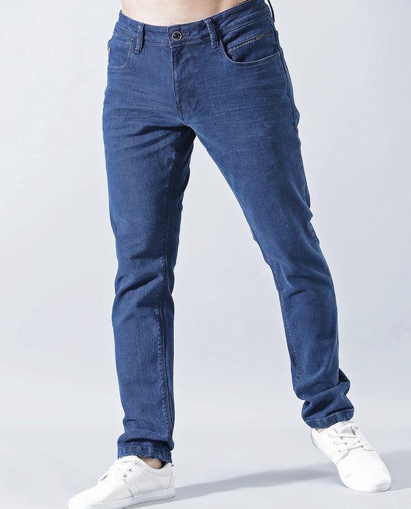 CHARK-DENIM PANT-BLUE DENIM PANT RARE RABBIT