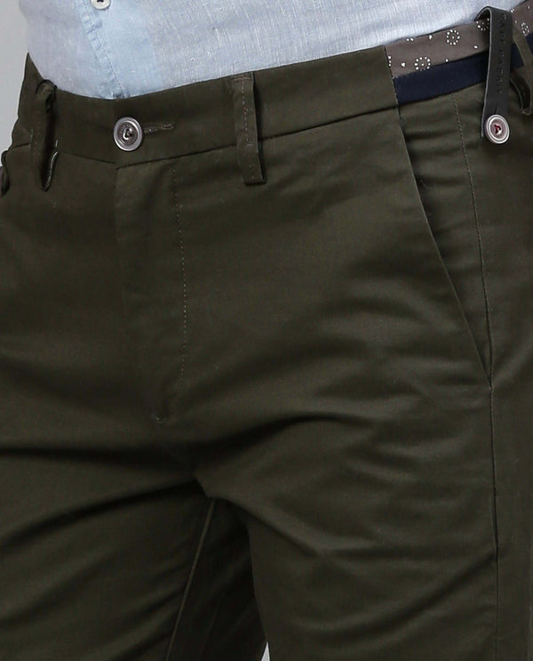 DARO 3-Slim Fit Trouser/Chino-OLIVE TROUSERS RARE RABBIT