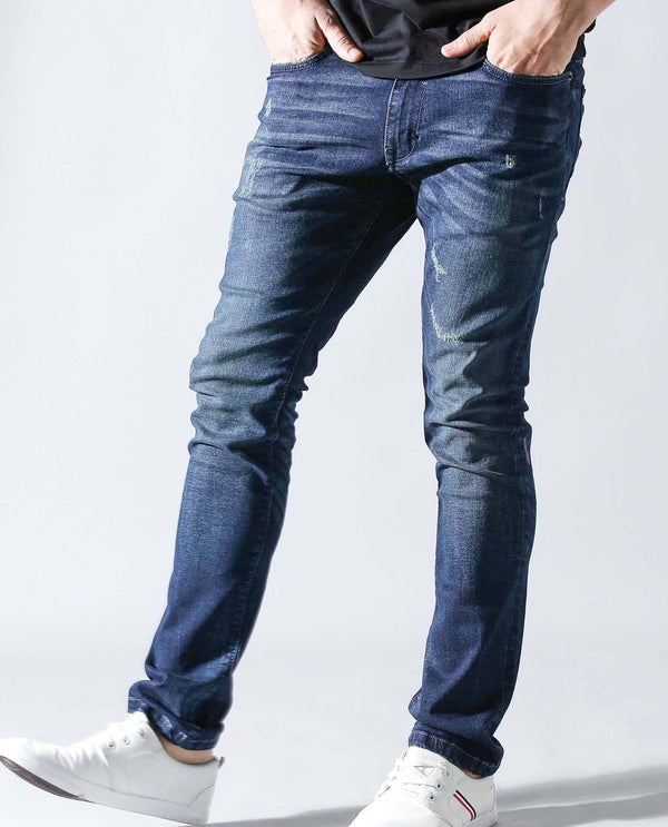 DAVID-DENIM PANTS-NAVY DENIM PANT RARE RABBIT