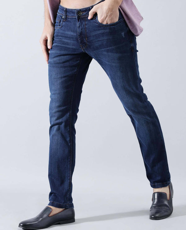 JHON- stretch denim -BLUE DENIM PANT RARE RABBIT