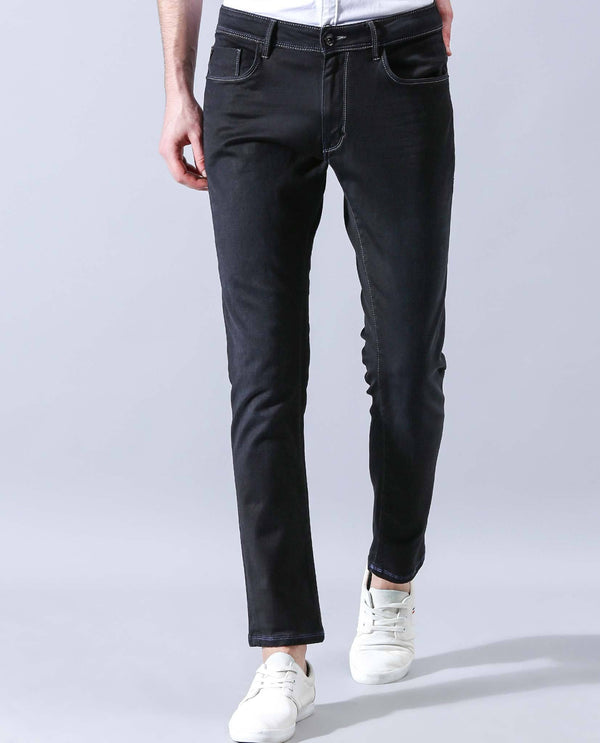 MAMBO-XLO-DENIM PANT-BLACK DENIM PANT RARE RABBIT