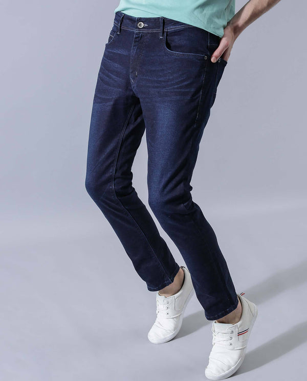 SNAPE-DENIM PANTS-BLUE DENIM PANT RARE RABBIT