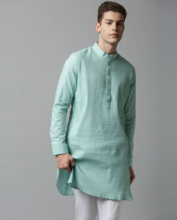 PINTUCK - MEN'S KURTA - GREEN KURTA RARE RABBIT