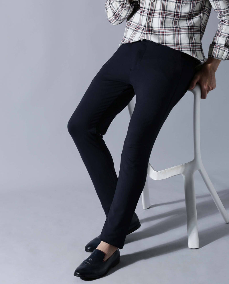 TRAWORK-2-Knit trousers- NAVY TROUSERS RARE RABBIT