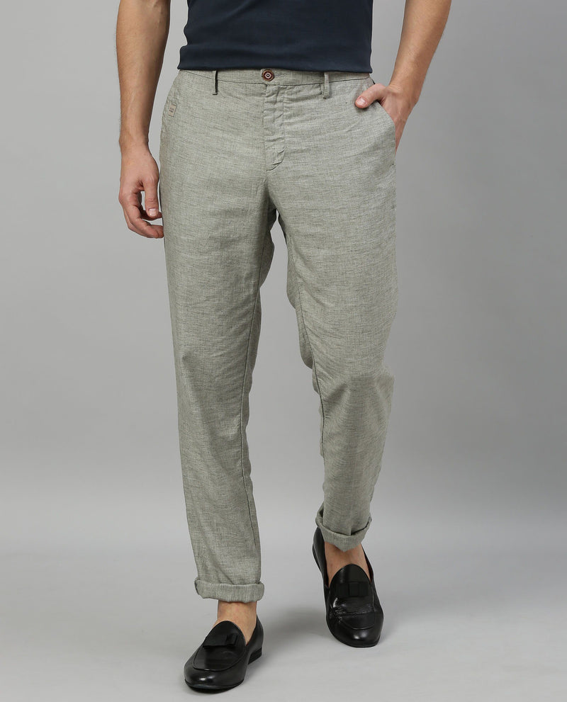 LINCON-TEXTURED TROUSER-GREY TROUSERS RARE RABBIT