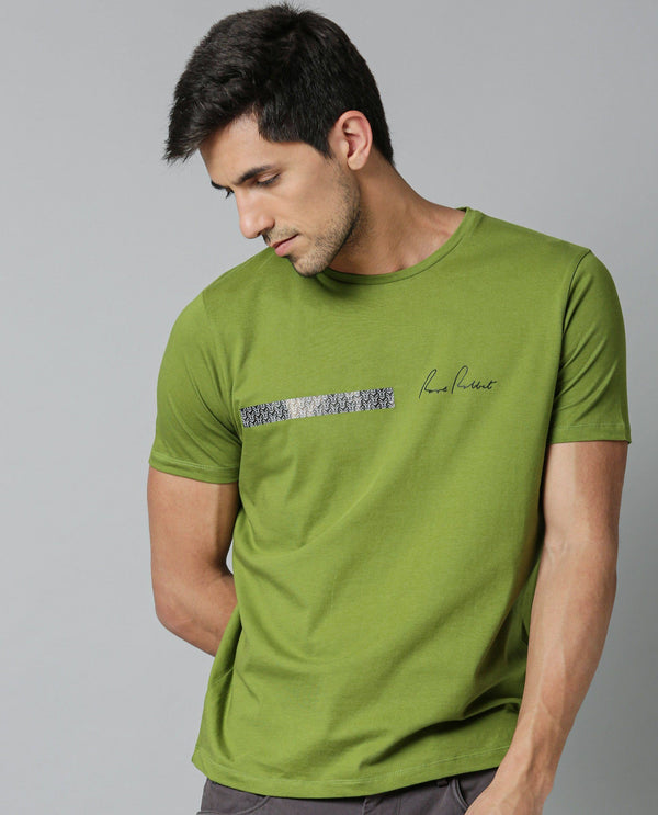 BAAR-GREEN T-SHIRT RARE RABBIT