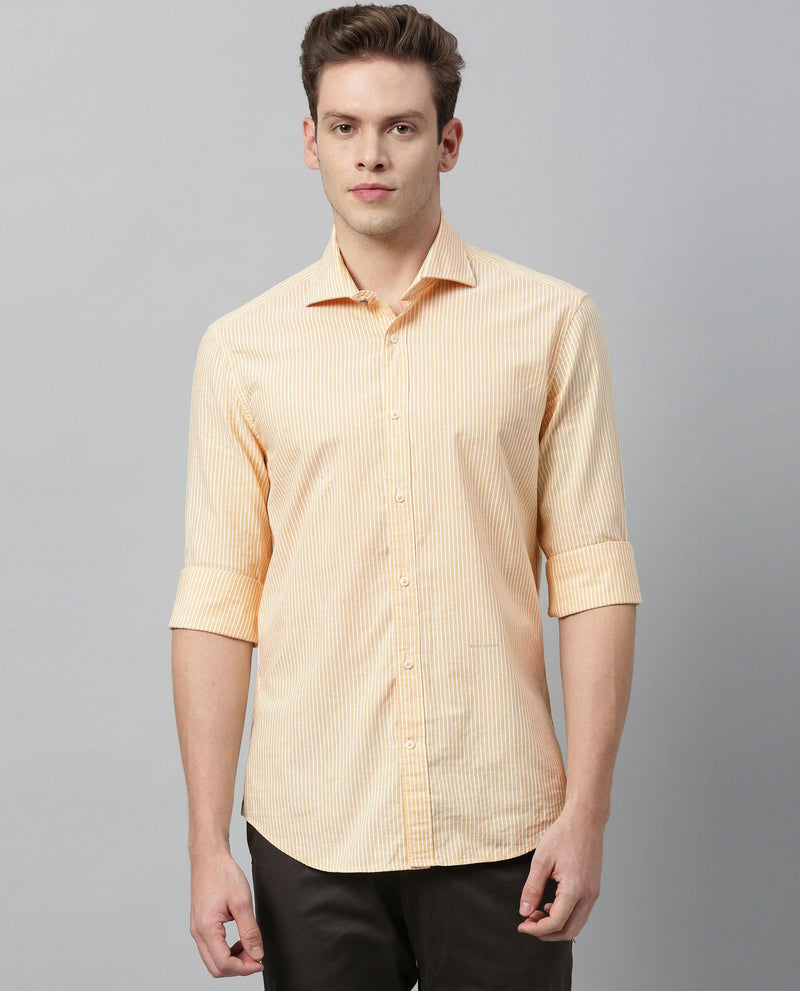 TINGE-STRIPE SHIRT-YELLOW SHIRT RARE RABBIT