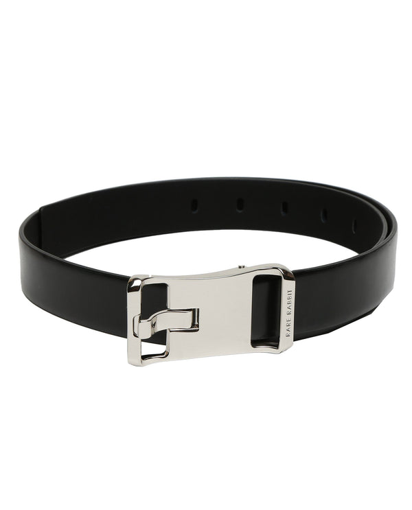 POLITE-PREMIUM LEATHER BELT-BLACK RR BELTS RARE RABBIT