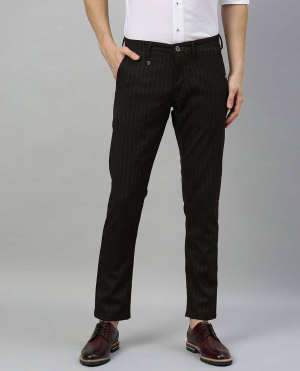 TRIPOD-STRIPE TROUSER-MAROON TROUSERS RARE RABBIT