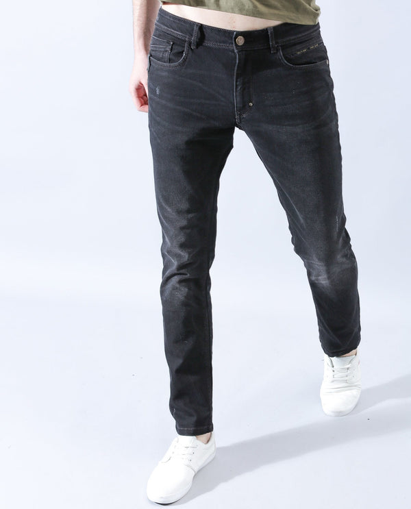 DORMAN-DENIM PANTS-BLACK DENIM PANT RARE RABBIT