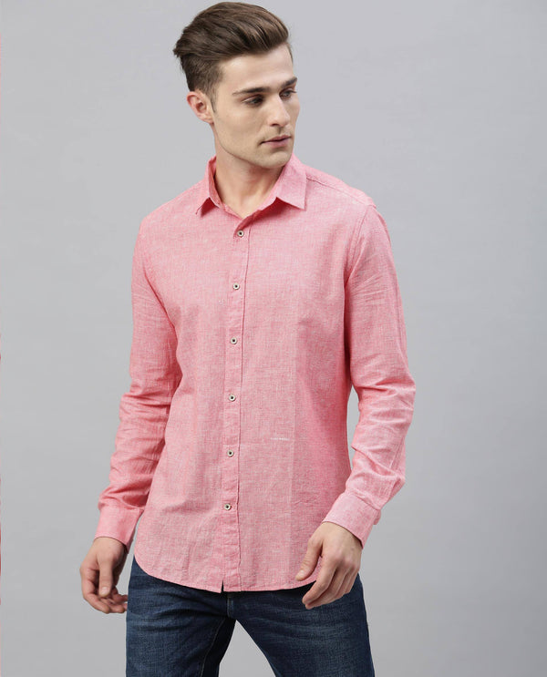 Riks-Solid Shirt-Red SHIRT RARE RABBIT